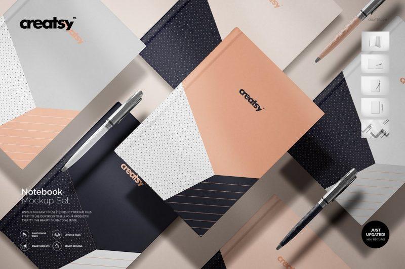 Easy Editable Leather Book Mockup