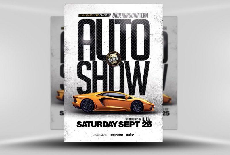 Editable Auto Show Flyers