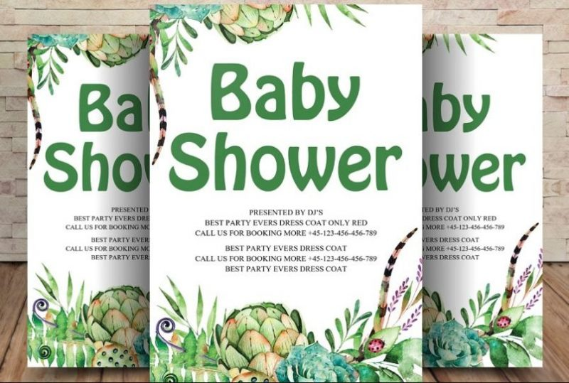 Editable Baby Shower Flyers