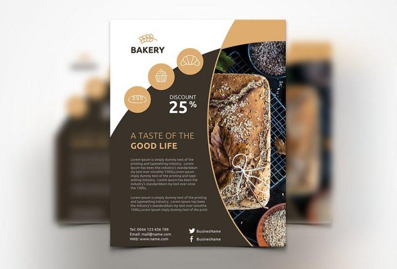 Editable Bakery Flyer Te,plate