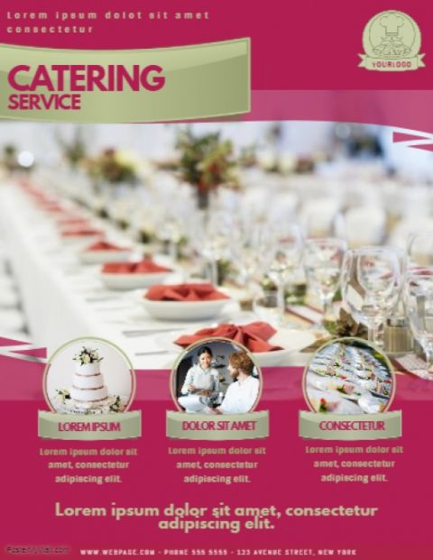 Editable Catering Flyer Template