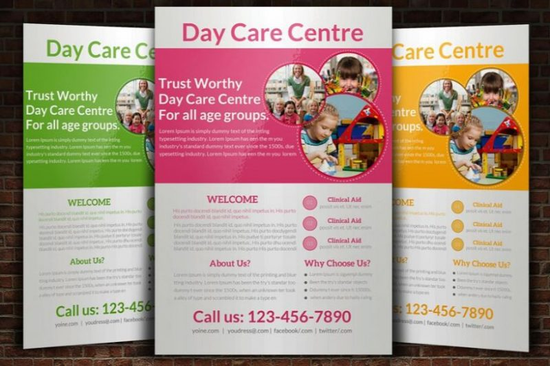 Editable Daycare Flyer Template