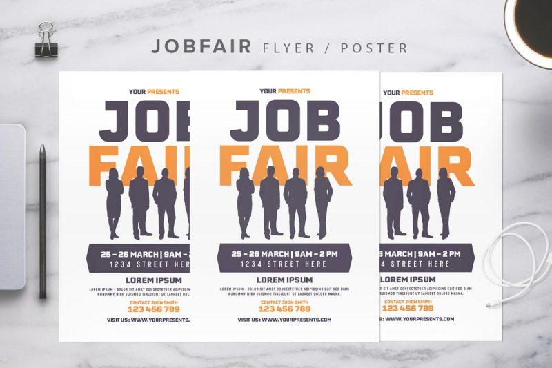 Editable Job Fair Flyer Template