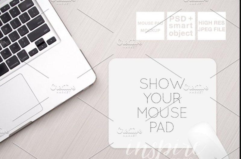 Editable Mouse Pad Mockup PSD