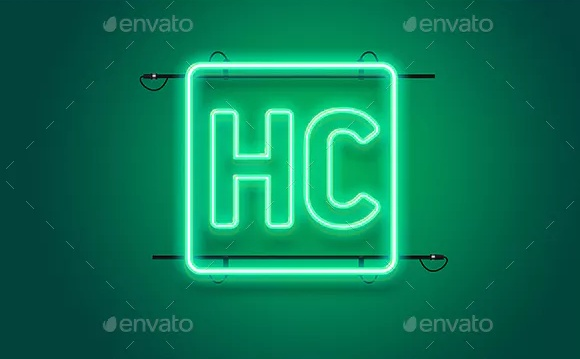 Editable Neon Logo Mockup