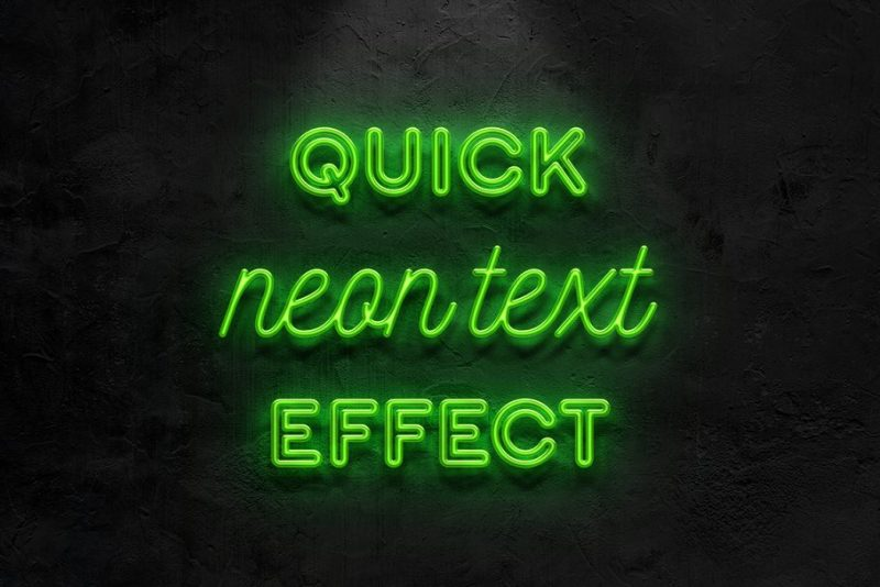Editable Neon Text Mockup