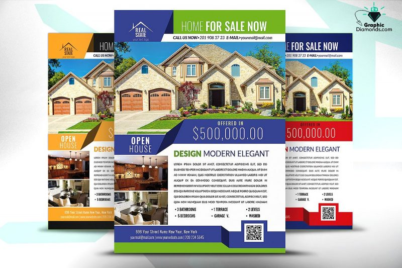 Editable Real Estate Flyers Template