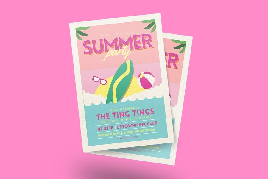 Editable Summer Party Flyer