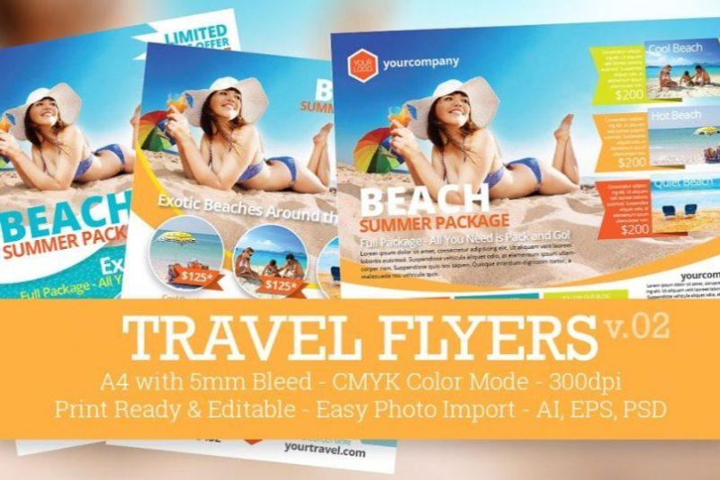 Editable Travel Flyers