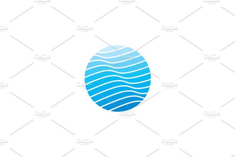 Editable Wave Logo Vector
