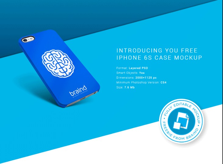 Editable iPhone 6 Mockup PSD