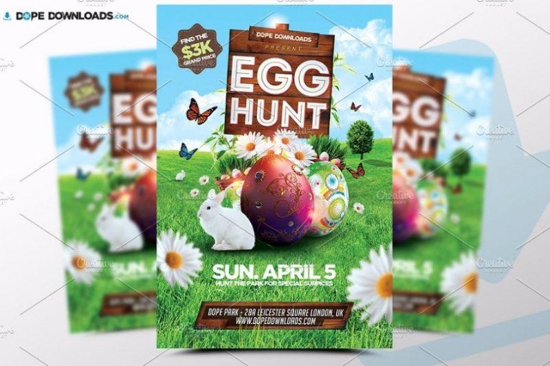 Egg Hunt Flyer Template