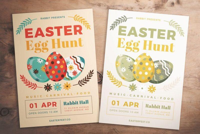 Egg Hunt Promotion Template