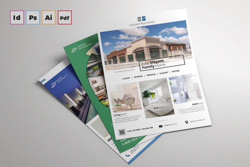 Elegant Real Estate Company Flyer