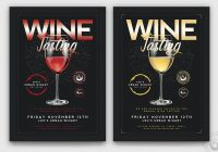 Elegant Wine Tasting Flyers