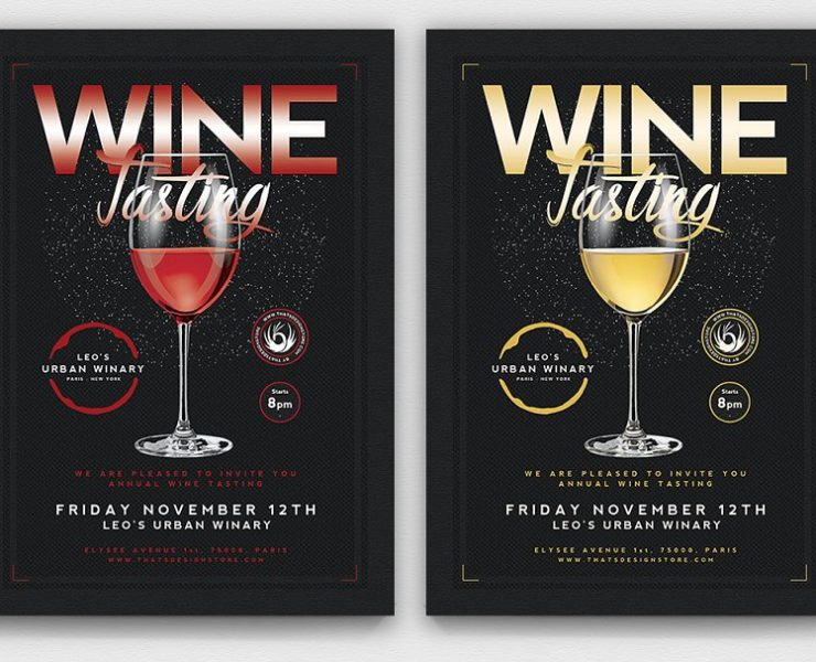 15+ Wine Tasting Flyers PSD, Ai, and Word Format