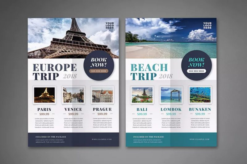 Europe Trip Flyer Template