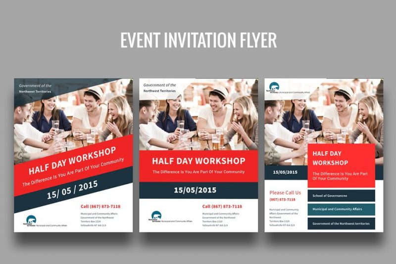 Event Invite Flyers PSD