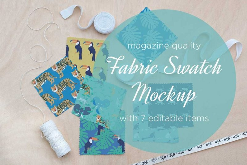 Fabric Swatch Mockup PSD