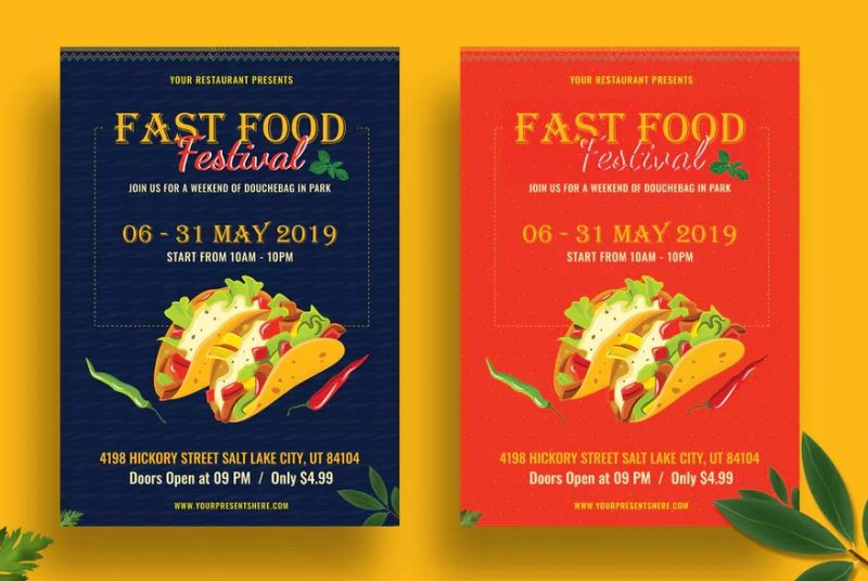 Fast Food Festival Flyer Template