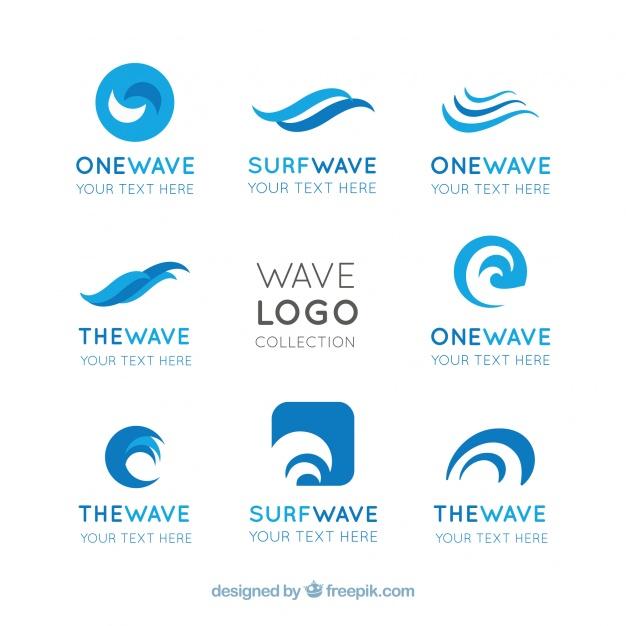 Flat Waves Logo Design