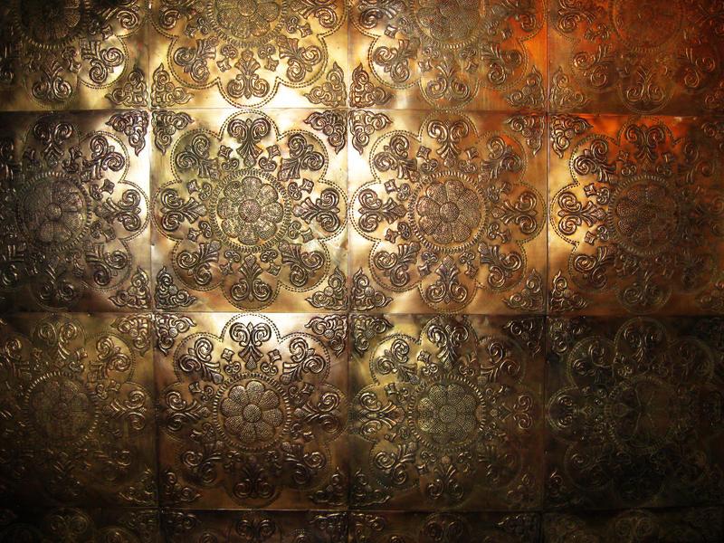 Floral Bronze Metallic Textures