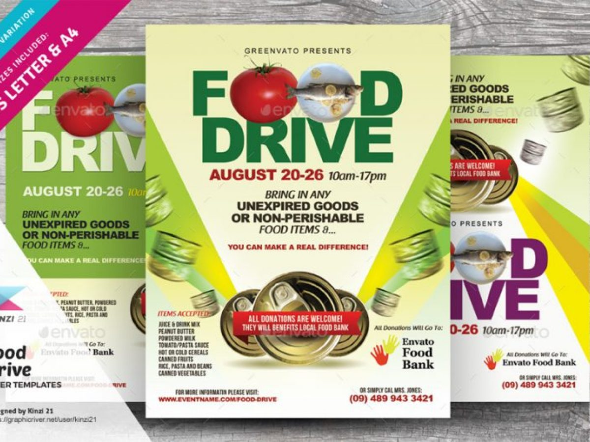 Food Drive Poster Template from graphiccloud.net