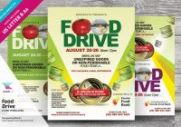 Food Drive Ad Flyer Template