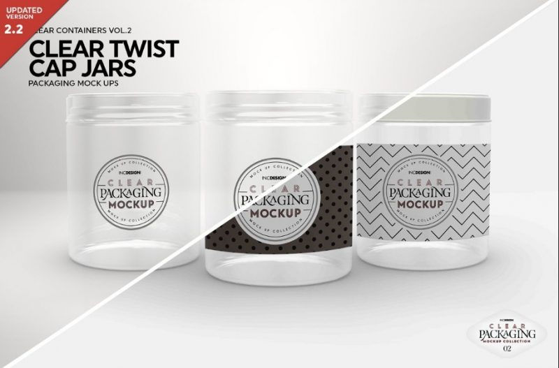 Food Jars Mockup PSD