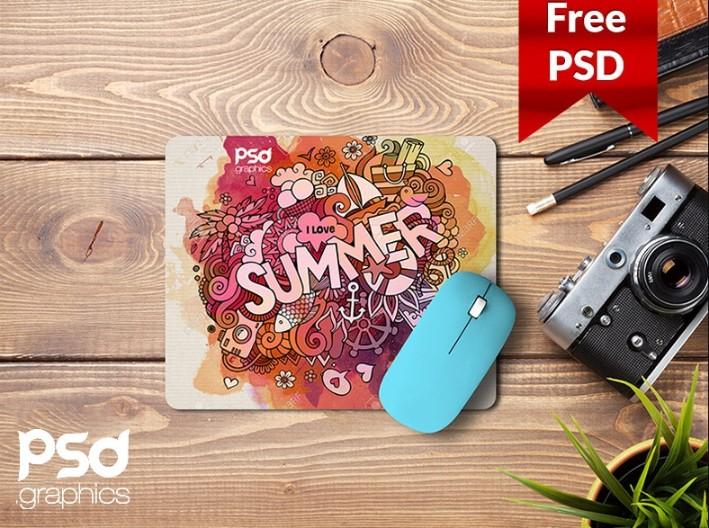 Free Mouse Pad Design Mockup