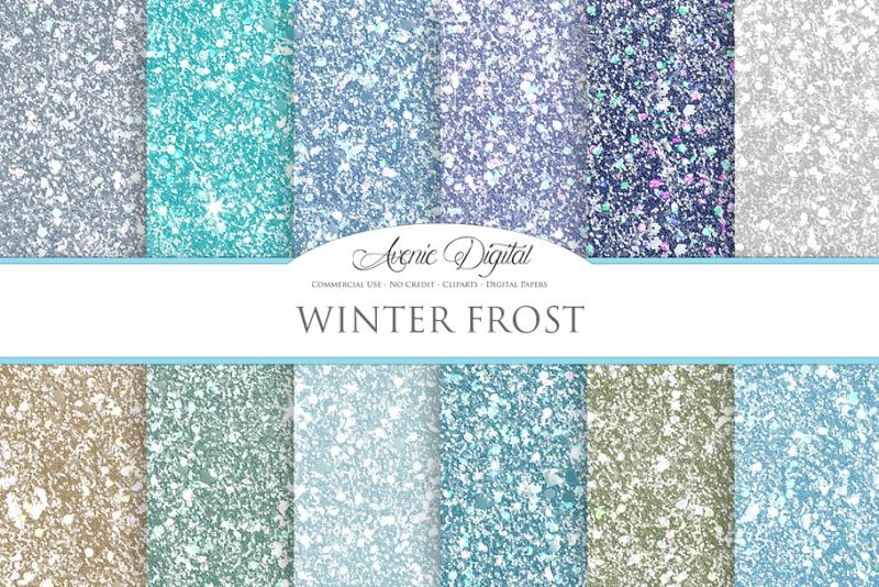 Frost Glitter Textures Background