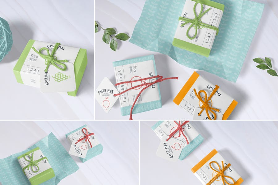 Fully Customizable Craft Soap Box Mockup