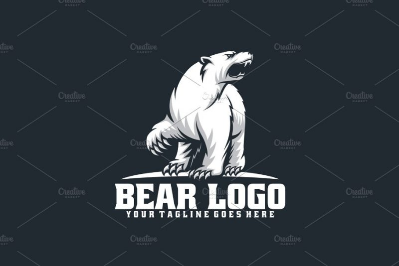 Fully Editable Bear Logo