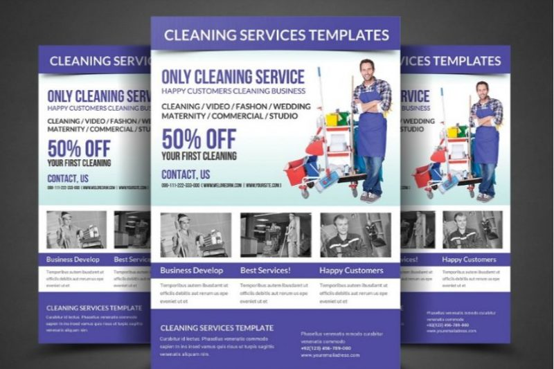 Fully Editable Cleaning Service Flyer