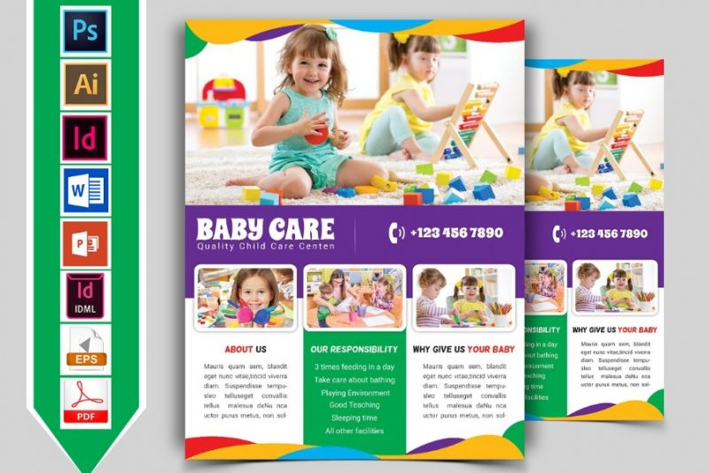 Fully Editable Day Care Flyer Template