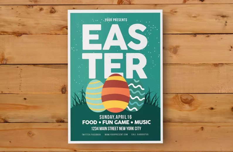 Fully Editable Easter Card Template