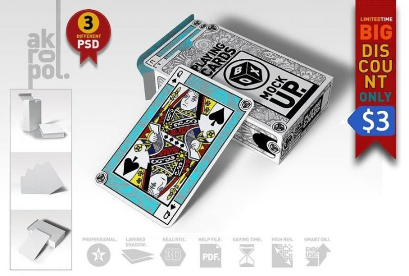 Fully Editable Playing Cards Mockup