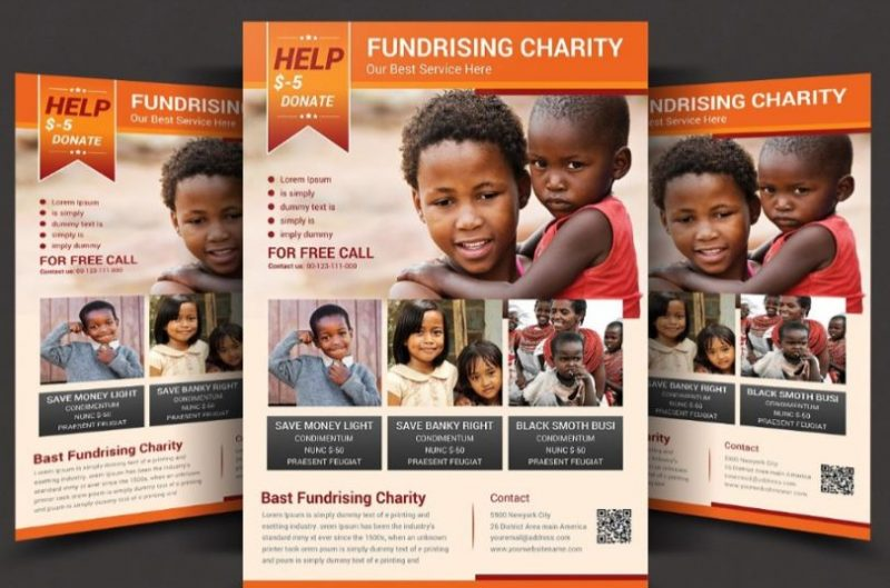 Fully Layered Charity Flyers