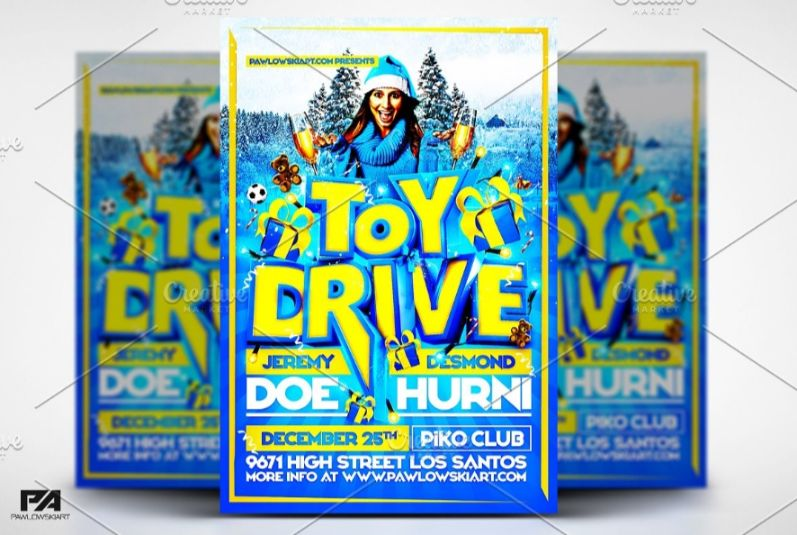 Fully Layered Coat Drive Flyer