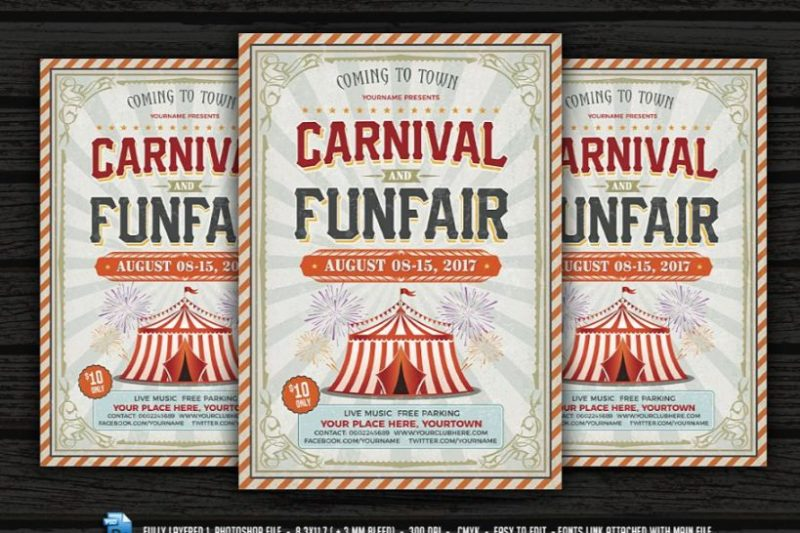 Fun Fair Flyer Template PSD