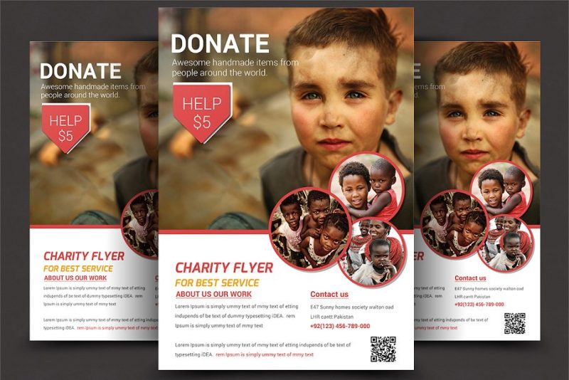 Fundraiser Event Flyers PSD