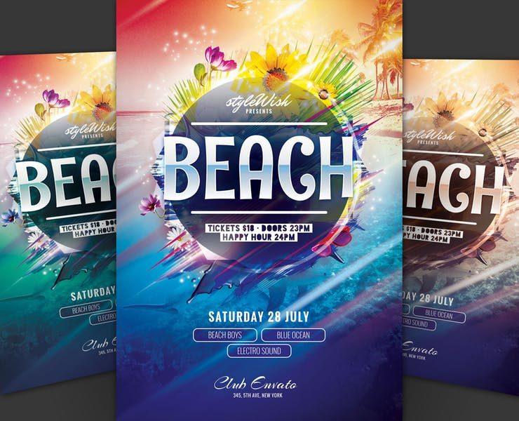 11+ Beach Flyers Template PSD and Ai Format