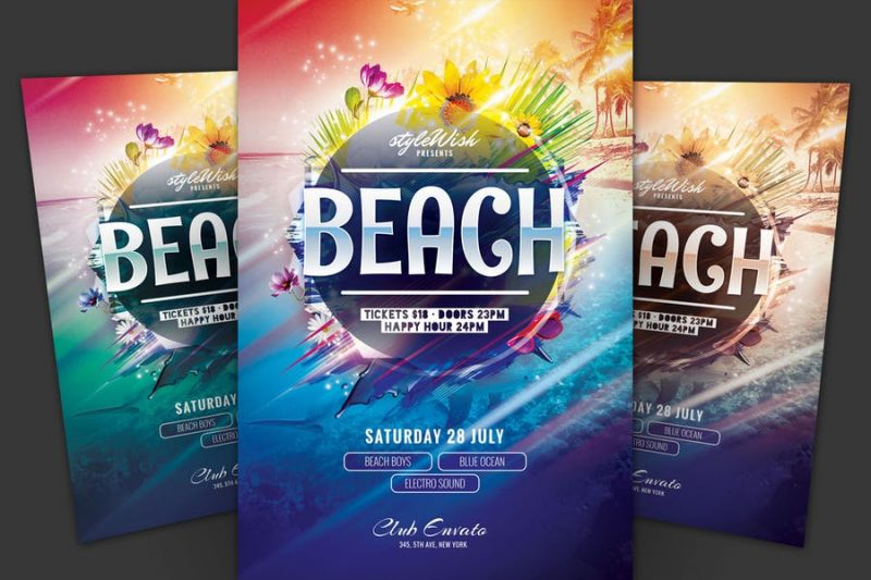 Futuristic Beach Flyer