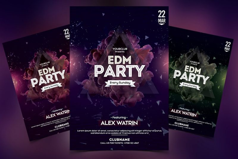 Futuristic Club Party Flyer Template