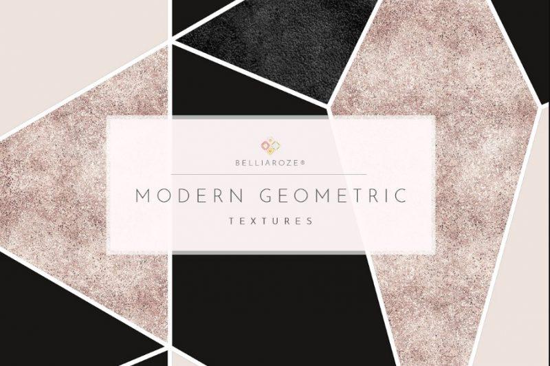 Geometric Foil Digital Papers