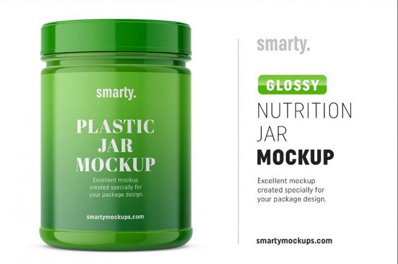 Glossy Jar Mockup PSD