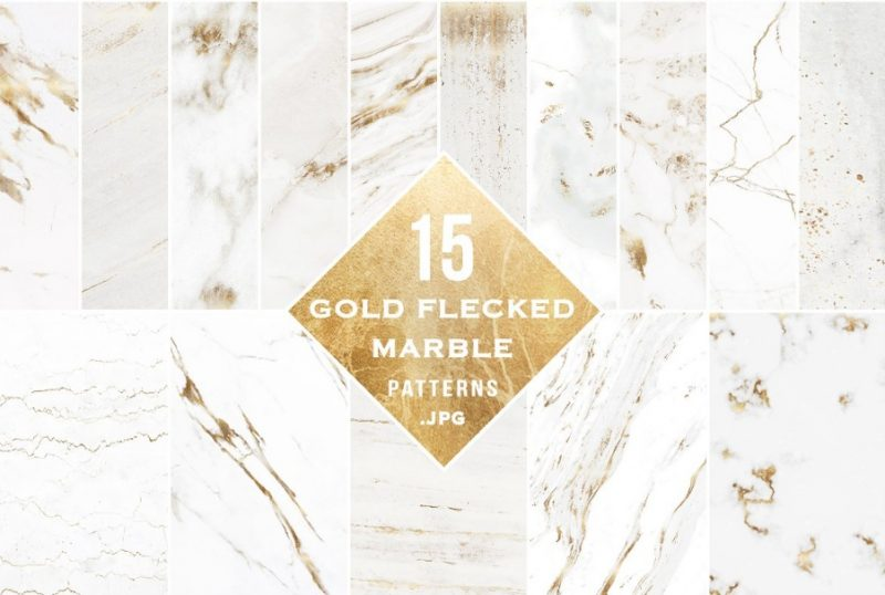 Gold Flecked Marble Textures