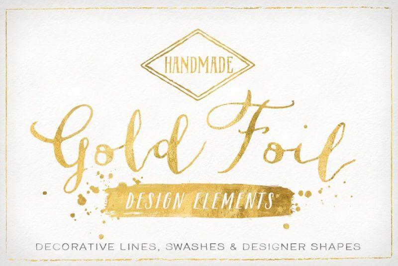 Gold Foil Design Elements