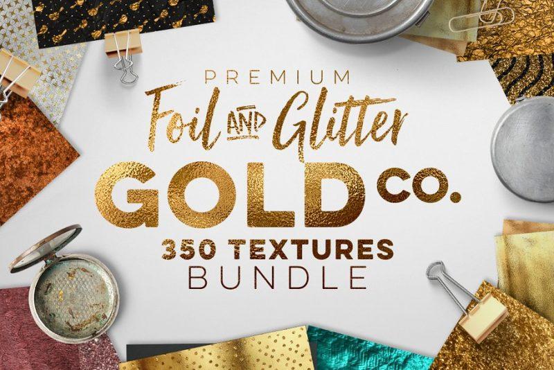Gold Foil Texture Bundle