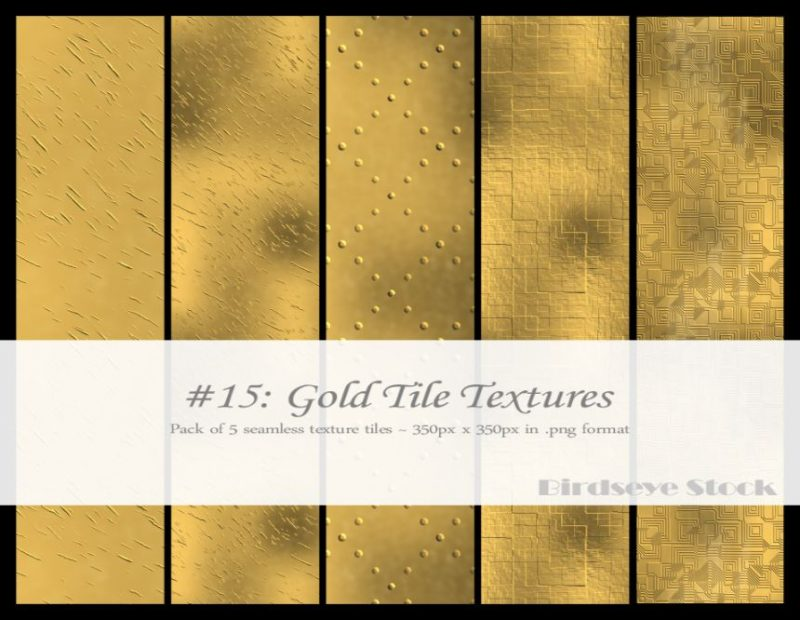 Gold Tile Textures Pack